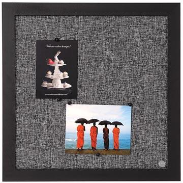 Bisilque Tableau d'affichage Black Shadow gris clair