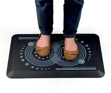 AFS-TEX tapis anti fatigue, impression ergonomique, revetement en polyester antimicrobien, ft 60 x 40 cm