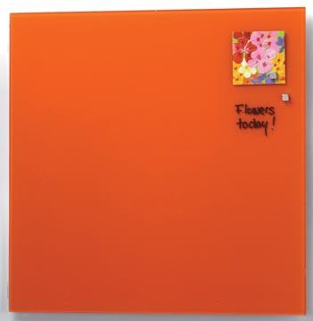 Naga tableau en verre magnétique orange
