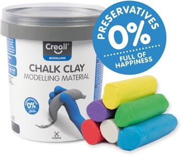 Creall Pâte à modeler pour craie de trottoir, happy ingredients, seau de 6 colours