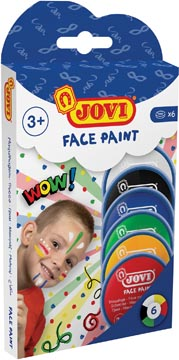 Jovi maquillage Face Paint, étui cartonné de 6 couleurs