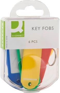 Q-Connect porte-clés, paquet de 6 pièces, couleurs assorties