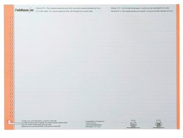 Elba étiquettes dossiers suspendus pr tiroirs orange, 1 feuille avec 27 étiquettes