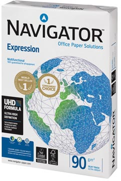 Navigator Expression papier de présentation, ft A4, 90 g, paquet de 500 feuilles