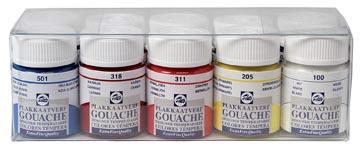 Talens gouache Extra Fine, flacon de 16 ml, set de 10 flacons en couleurs assorties