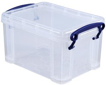 Really Useful Box boîte de rangement 1,6 l, transparent