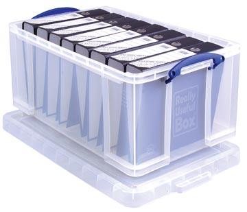 Really Useful Box boîte de rangement 64 l, transparent