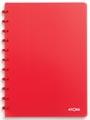Atoma cahier Trendy ft A4, quadrillé 5 mm, rouge transparent