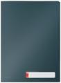 Leitz Cosy pochette coin avec intercalaires, 3 compartiments, ft A4, PP de 200 micron, opaque, gris