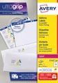 Avery L7162, Etiquettes adresses, Laser, Ultragrip, blanches, 100 pages, 16 per page, 99,1 x 33,9 mm